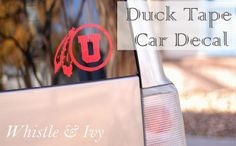 Duck Tape Car Decal #DIY