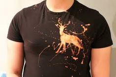 shirt....bleach.... spray white vinegar on once your design is done!  Easy....peezy!