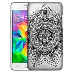 3c023d91cb4 Samsung Grand Prime Black Floral Ink Mandala Case. Fundas Para ...