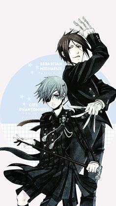 Ciel Phantomhive and Sebastian Michaelis   Black Butler   Kuroshitsuji   ♤ Anime ♤