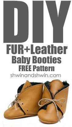 Utterly Cute Fur Leather Baby Booties - DIY Baby Shoes with Free Patterns and Tutorials - DIY & Crafts Baby Booties Free Pattern, Baby Shoes Pattern, Doll Shoe Patterns, Baby Patterns, Clothes Patterns, Dress Patterns, Sewing Patterns, Best Baby Shoes, Leather Tutorial