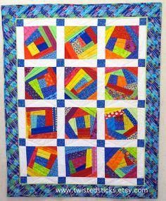 Childs crazy quilt toddler quilt patchwork quilt by twistedsticks