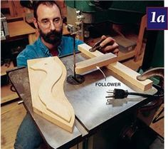 Bandsaw Jigs By George Vandriska Your bandsaw is one of the most versatile tools in your shop. These five jigs and techniques will help you handle some unusual situations. Cutting Multiples Click any…MoreMore Woodworking Bandsaw, Woodworking Jigsaw, Learn Woodworking, Woodworking Techniques, Popular Woodworking, Woodworking Projects, Bandsaw Projects, Wood Projects, Wood Jig