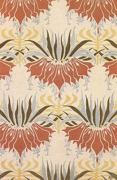 Art Nouveau Designs by R. Beauclair - part II Motifs Art Nouveau, Art Nouveau Pattern, Art Nouveau Design, Pattern Art, Pattern Design, Textiles, Textile Patterns, Textile Prints, Textile Art