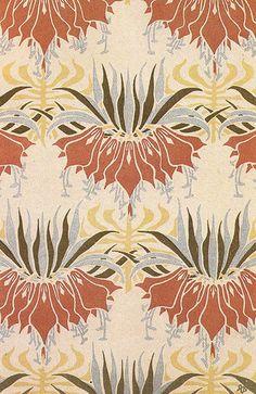 Art Nouveau fabric :: Rene Beauclair ca.1900