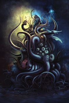 Nyarlathotep by berov lovecraft monster creature beast animal Dark Fantasy, Fantasy Art, Yog Sothoth, Lovecraft Cthulhu, Hp Lovecraft, Lovecraftian Horror, Eldritch Horror, Call Of Cthulhu, Pulp