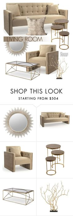 """Beige Living Room Interior"" by kathykuohome ❤ liked on Polyvore featuring interior, interiors, interior design, home, home decor, interior decorating, living room, livingroom and Home"