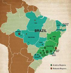 #coffee #map Brazil - Cofi-Com