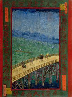 Vincent van Gogh - The Bridge in the Rain (after Hiroshige) (1887)