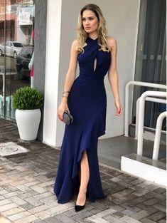 Plus Size Prom Dresses, Spaghetti Strap Mesh Plunging Neck Prom Dress with Slit Navy Bridal Unique Dresses, Elegant Dresses, Sexy Dresses, Casual Dresses, Fashion Dresses, Prom Dresses, Dresses For Work, Summer Dresses, Formal Dresses