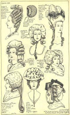 coiffure femme 18e