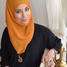 Arabian Collection - Shuruq - gorgeous gold Arabic Arabian lattice lace necklace with real tiger's eye stone necklace