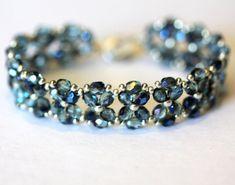 Simple Bracelets, Seed Bead Bracelets, Seed Bead Jewelry, Crystal Bracelets, Handmade Bracelets, Beaded Jewelry, Jewelry Bracelets, Seed Beads, Beaded Bracelets Tutorial
