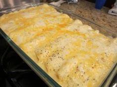 Chicken Enchilada's with Sour Cream Sauce Recipe