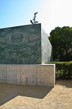Barcelona Pavillion by Mies Van De Rohe 1929. Torn down in 1930 and later rebuilt exactly as the original by Spanish architects between 1983 -86