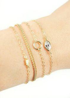 Apelila Emerald Cut Bracelet Gold