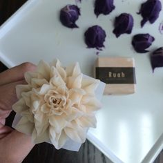 dahlia  bean paste flower.  flower cake done by ruahcake.