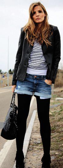 black tights make winter shorts   Dress to Impress   Pinterest ...