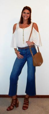 Exposed Shoulders Trend: Outfit #1 - 70's Inspired