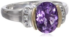 S&G Sterling Silver, 14k Yellow Gold, White Topaz, and Oval Amethyst Ring, http://www.amazon.com/dp/B0043RTPP2/ref=cm_sw_r_pi_awdl_e6tPsb0RDACEA
