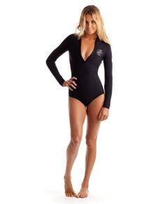 d1e81b12ef877 maiô pra surfar Rip Curl Womens Wetsuit G Bomb Front Zip Long Sleeve Booty  Springsuit At Hansen s Surf Shop