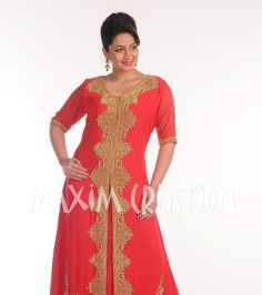 New MAXI Ladies Moroccan Traditional Takchita Jalabiya Embroidery d.no.4924. occasion and make you look the best in this Kaftan dress Design No. 4924. This Red Colour Faux Georgette Dubai Kafta n 1 piece Set & 3/4 Sleeve Kaftan.   eBay!