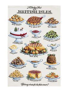 Kelly Hall Christmas Feast Cotton Tea Towel