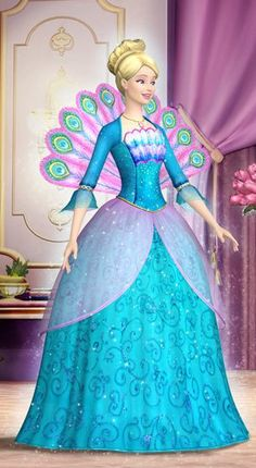 Ro (Rosella) in her beautiful ballgown from Barbie the Island Princess