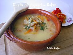 Ciorba de ciuperci pleurotus Dukan Diet, Cheeseburger Chowder, Thai Red Curry, Soup, Ethnic Recipes, Soups