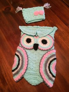 SOLD! A personal favorite from my Etsy shop https://www.etsy.com/listing/279260942/crocheted-baby-owl-cocoon