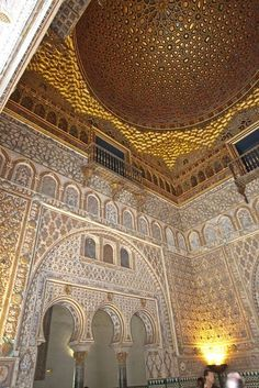 Islamic Architecture, Beautiful Architecture, Art And Architecture, Cordoba Spain, Seville Spain, Places Around The World, Travel Around The World, Alhambra Spain, Alcazar Seville