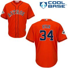 Men s Nolan Ryan Orange Majestic Jersey  MLB Houston Astros Alternate 2017  World Series Champions Cool Base 60cc9cc00