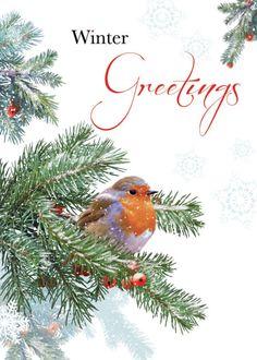 Illustration by Martin Irish - lovely card Xmas Drawing, Christmas Art, Christmas Ornaments, Robin Redbreast, Robin Bird, Winter Scenes, Winter Time, Cute Art, Vintage