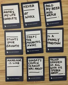 Hilarious Ideas For Blank Cards In Cards Against Humanity Game Or Hilarious Ideas For Blank Cards In Cards Against Humanity Game Or Awesome Ideas For Black Blank Cards In Cards Of Humanity Or Diy Diy… Diy Cards Against Humanity, Funniest Cards Against Humanity, Cards Of Humanity, Funny Party Games, Adult Party Games, Adult Games, Birthday Games For Adults, Funny Birthday Cards, Humor Birthday