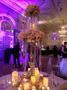 Beautiful Center Pieces from the wedding show at The Brown Hotel in Louisville. Center Piece by In bloom Again...I absolutely love Wayne and his work! I think I am 90% sold on Blush and Gold!
