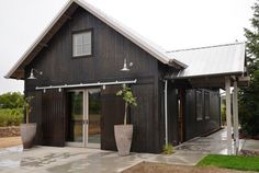 Classic Gooseneck Barn Lights for Boutique California Winery | Blog | BarnLightElectric.com Garage Design idea!