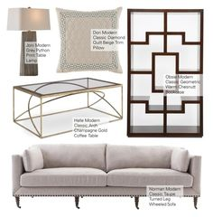"""""""Modern Classic Decor"""" by kathykuohome ❤ liked on Polyvore featuring interior, interiors, interior design, home, home decor, interior decorating, modern, livingroom and modernclassic"""