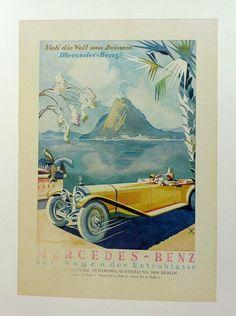 Výsledek obrázku pro mercedes benz vintage posters