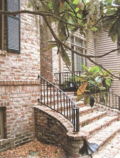 228 best brick steps images stairs hand railing handrails outdoor rh pinterest com