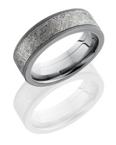 Brent L. Miller Jewelers & Goldsmiths | Black and White Tungsten Vertical Stripe Wedding band