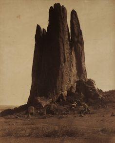 William Henry Jackson.View of Tower of Babel, Garden of the Gods.Colorado Springs.