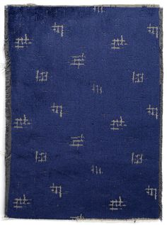 Rattoppato by Gio Ponti for Rubelli. Textiles, Textile Patterns, Kind Of Blue, Blue And White, Gio Ponti, Shape Patterns, Print Patterns, Ottoman Flag, Indigo