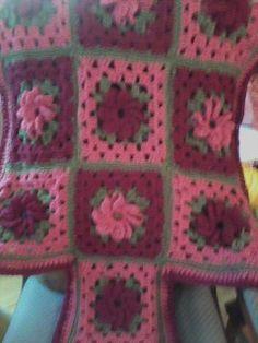 Roses prayer shawl I crocheted for dear friend