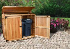 Garbage Storage Fence Gardening That I Love And