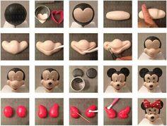 Ideas cake fondant mickey mouse for 2020 Minnie Mouse Birthday Cakes, Mickey Cakes, Mickey Mouse Cake, Minnie Mouse Cake, Bolo Fondant, Fondant Cake Toppers, Fondant Cakes, Fondant Figures Tutorial, Cake Topper Tutorial
