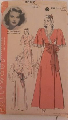 Hollywood 1917 |1930s pattern with movie star Olympe Bradna