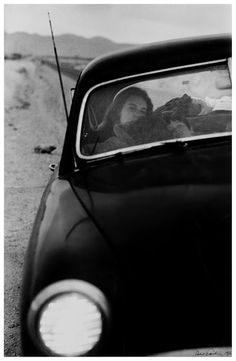 "© Robert Frank, ""The Americans"". U.S. 90, en route to Del Rio, Texas, 1955"