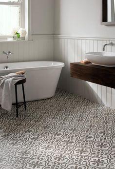 Bathroom Floor Tiles at Topps Tiles. Loft Bathroom, Bathroom Floor Tiles, Bathroom Renos, Budget Bathroom, Tile Floor, Room Tiles, Bathroom Ideas, Bathroom Mirrors, Bathroom Designs