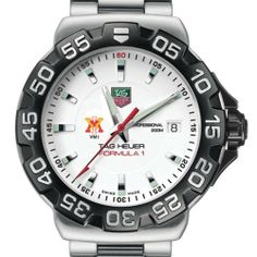 """Virginia Military Institute TAG Heuer Watch - Men's Formula 1 Watch with Bracelet by TAG Heuer. $1495.00. TAG Heuer international two-year warranty. Swiss-made Quartz movement.. Authentic TAG Heuer watch only at M.LaHart & Co.. Unique TAG Heuer presentation box.. Officially licensed by Virginia Military Institute. Virginia Military Institute TAG Heuer men's Formula 1 watch brings sport and style to VMI by featuring the """"VMI"""" logo with """"VMI"""" below. Brushed and Polished..."""