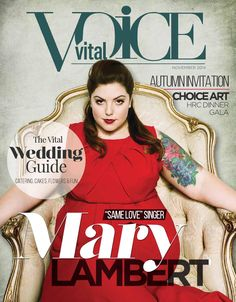 The Vital Voice Magazine November 2014  The Wedding Issue - Mary Lambert - Vital VOICE Magazine